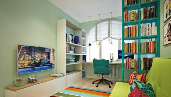 Дизайн интерьера комнаты для ребёнка от 7 до 12 лет