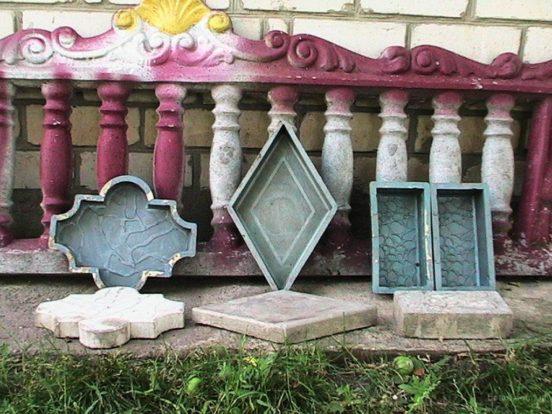 Примеры тротуарной плитки с формами