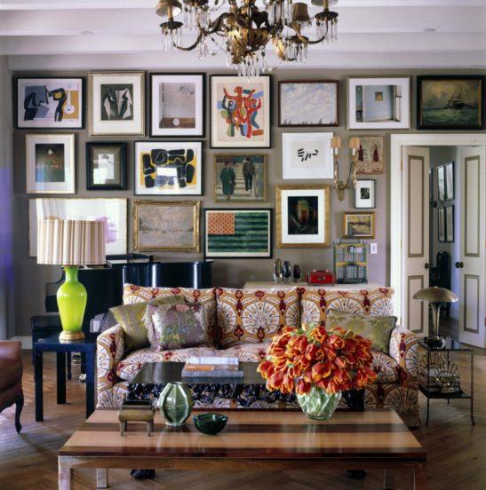 Зона гостиной в стиле бохо с элементами этно