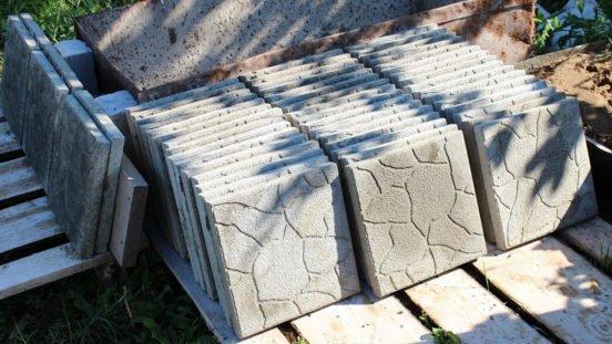 Складирование плитки