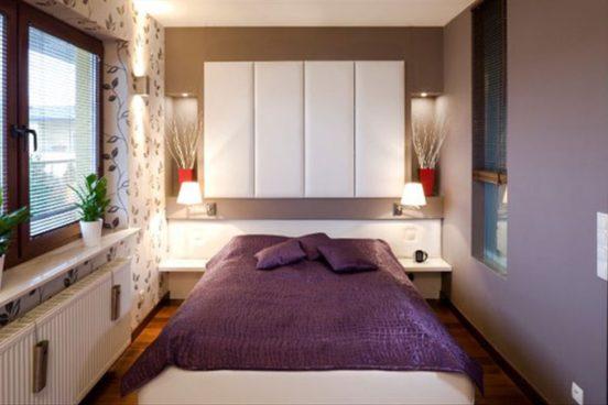 Спальня с узкими проходами