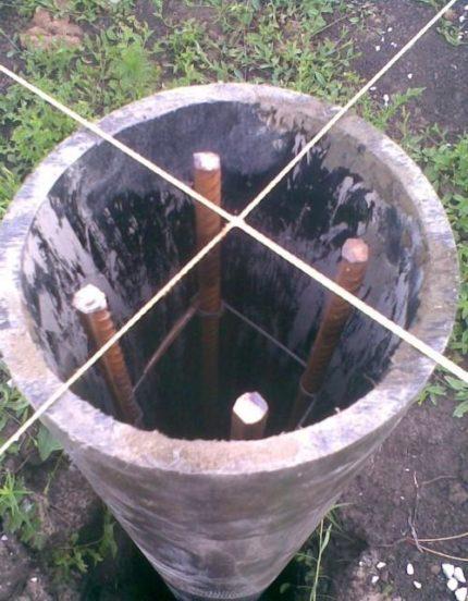 Армирование бетонных столбов