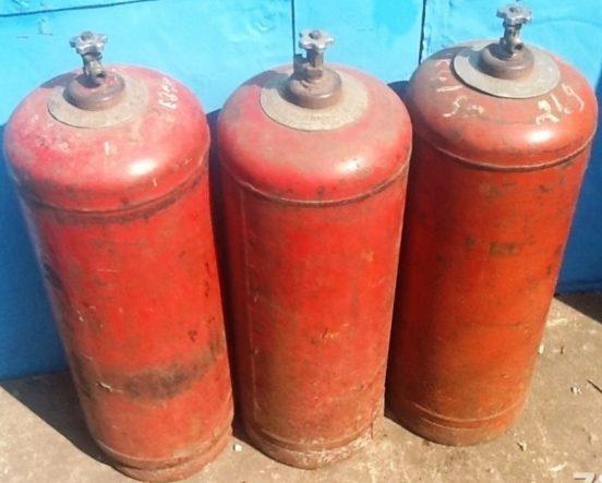 Газовые баллоны объёмом 50 литров