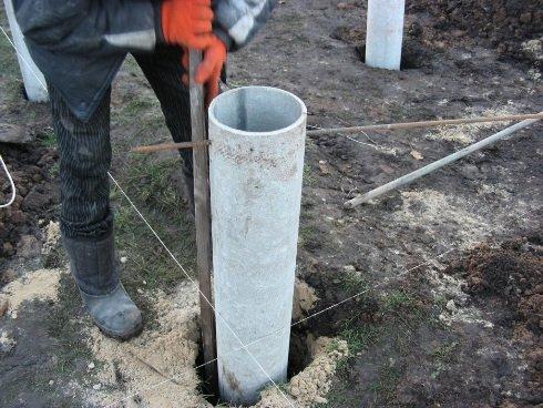 Использование асбестоцементных труб для столбчатого фундамента
