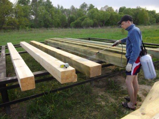 Обработка древесины перед использованием её в строительстве