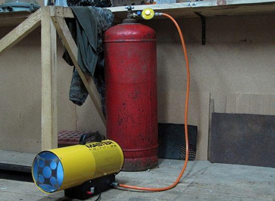 Тепловая пушка в гараже