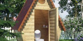 Как построить деревянный туалет на даче своими руками