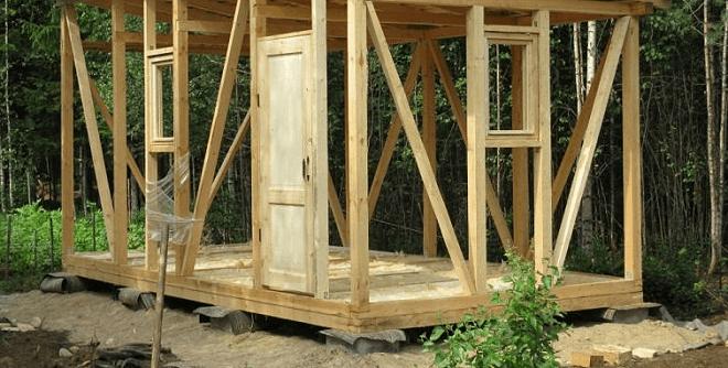 Построить хозблок на даче своими руками пошаговое фото 14