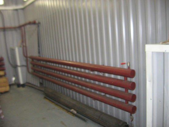 Установка радиатора в гараже