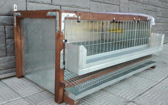 Клетка для перепелов из сетки, оцинковки и бруска