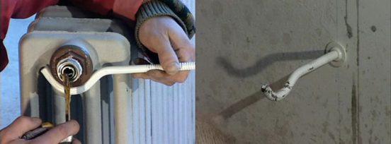 Крепление чугунной батареи к стене