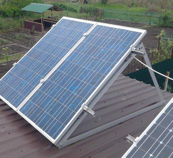 Солнечные модули на крыше