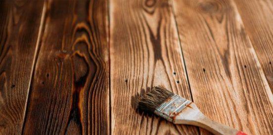 Окрашенная брашированная древесина