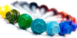 Виды оцинкованных и цветнокровельных саморезов по металлу