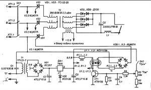 Схема подающего механизма для полуавтомата