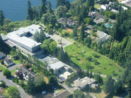 Вид сверху на имение Билла Гейтса