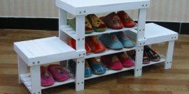 Идеи для прихожей: полки для обуви своими руками