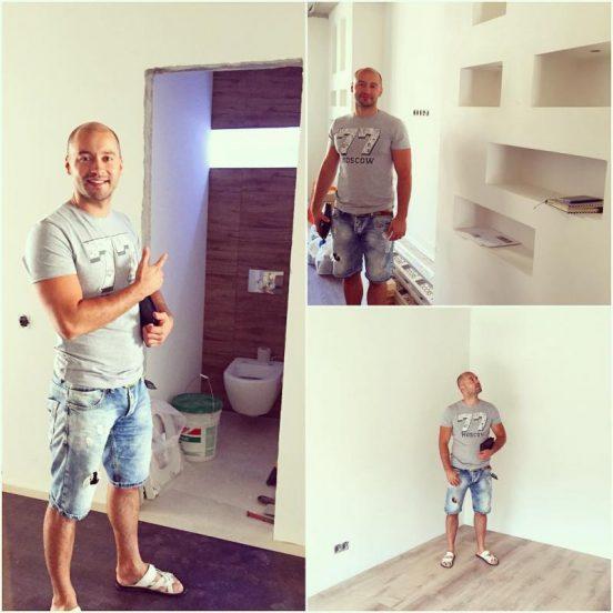 Андрей Черкасов в свой новой квартире