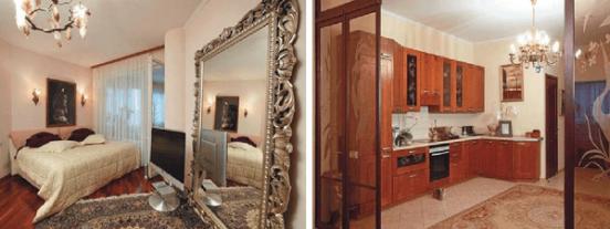 Спальня и кухня Андрея Черкасова