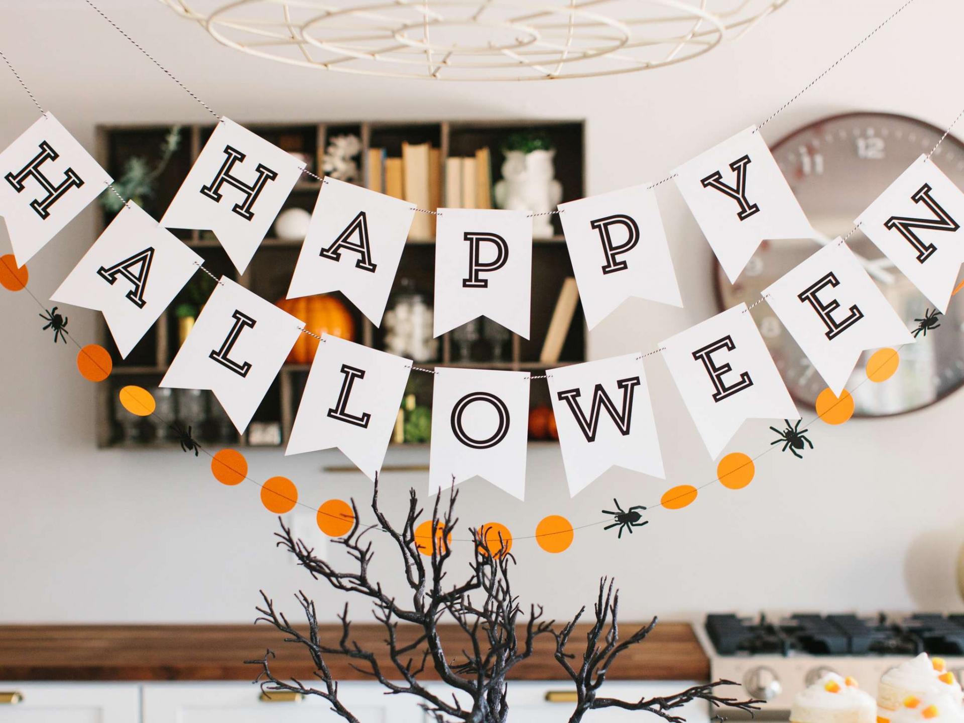 гирлянда из бумаги на хэллоуин своими руками
