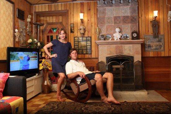 Татьяна Буланова с мужем в их загородном доме