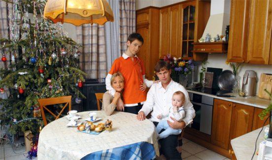 Татьяна Буланова с семьёй