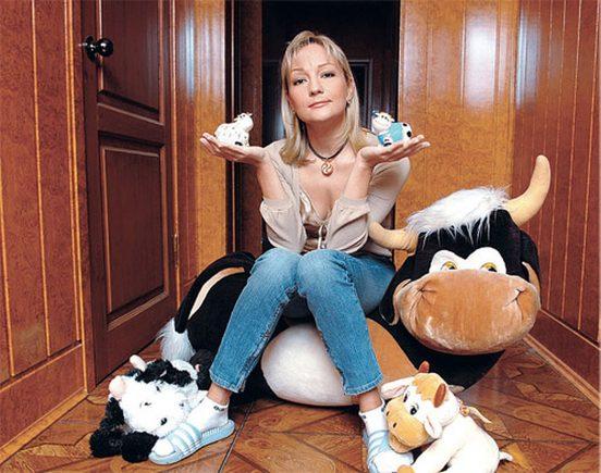 Татьяна Буланова у себя дома