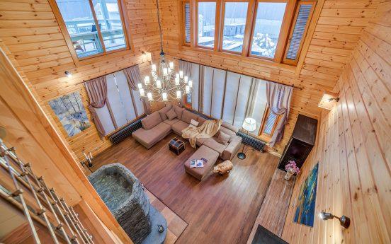 Интерьер дома из клееного бруса