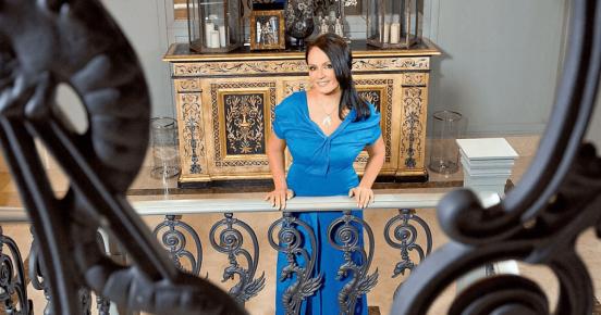 София Ротару в синем платье
