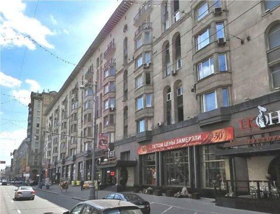 Дом, в котором находится квартира Кристины Орбакайте в Москве