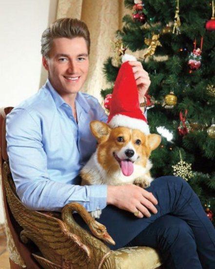 Алексей Воробьев со своей собакой