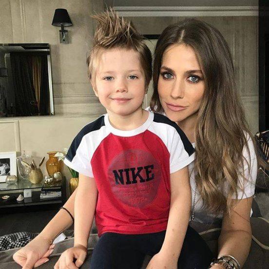 Юлия Барановская и сын