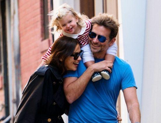 Брэдли Купер и Ирина Шейк с дочкой