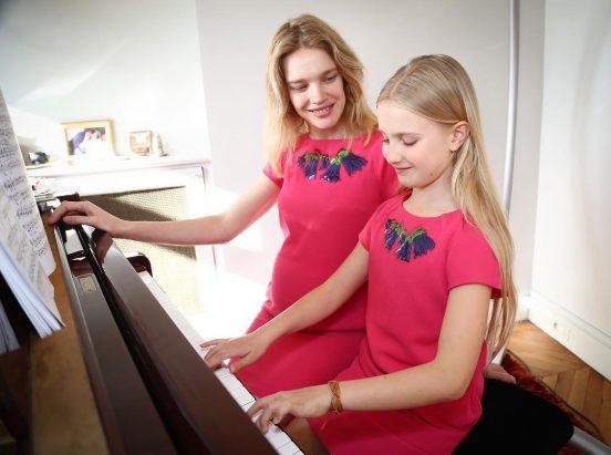 Наталья Водянова с дочкой