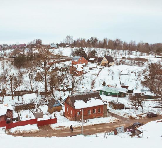 Вид на загородные дома