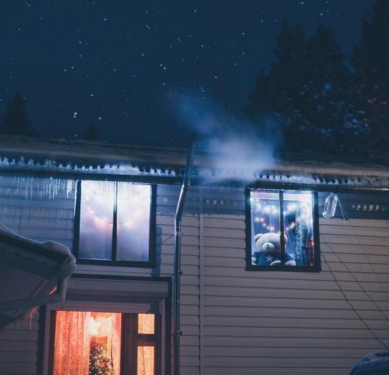 Звёздное небо за домом