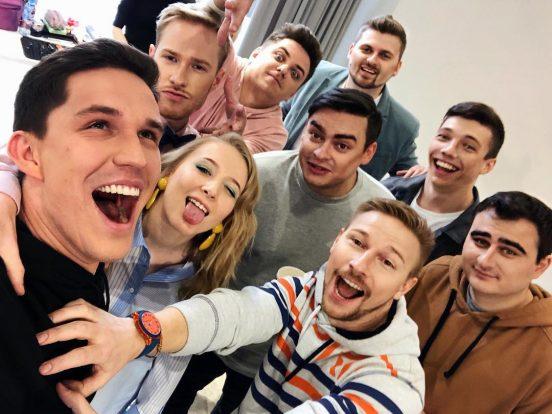 Дмитрий Масленников с друзьями