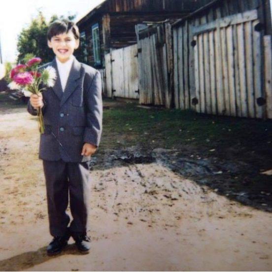 Леван Горозия с цветами