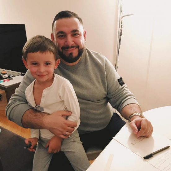 L'One с сыном