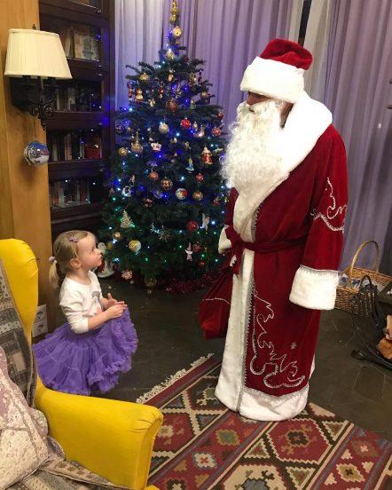 Дочка Сергея Безрукова и Дед Мороз
