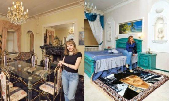 Жена Боярского в их квартире
