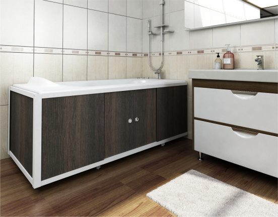 места для хранения под ванной