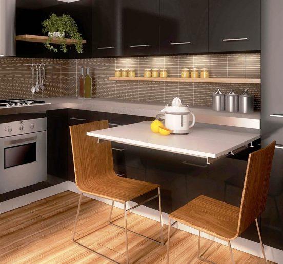 как сделать маленькую кухню функциональной