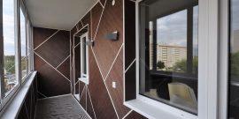 Как недорого отделать балкон