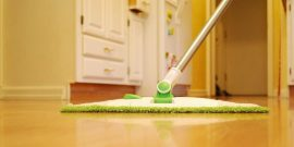 Как после покраски помыть пол с уксусом