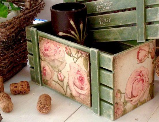 Ящик с рисунком