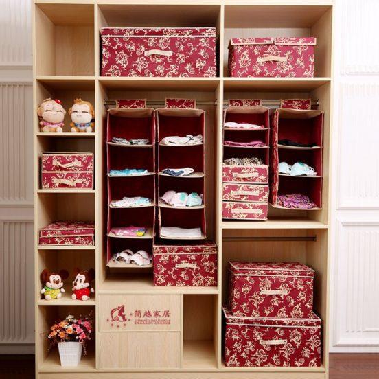 шкаф из коробок для одежды своими руками
