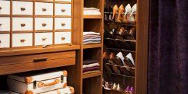 Обувница в шкафу-купе: идеи организации на фото