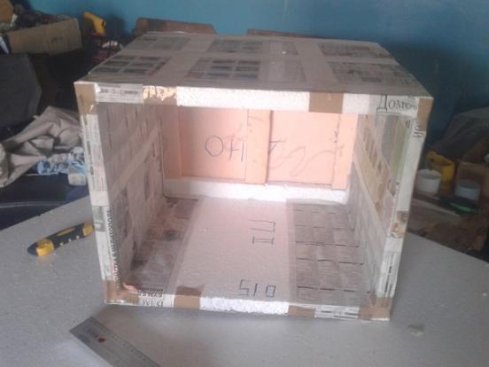 заготовка холодильника из пенопласта