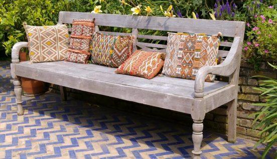 деревянные диваны для дачи в стиле прованс